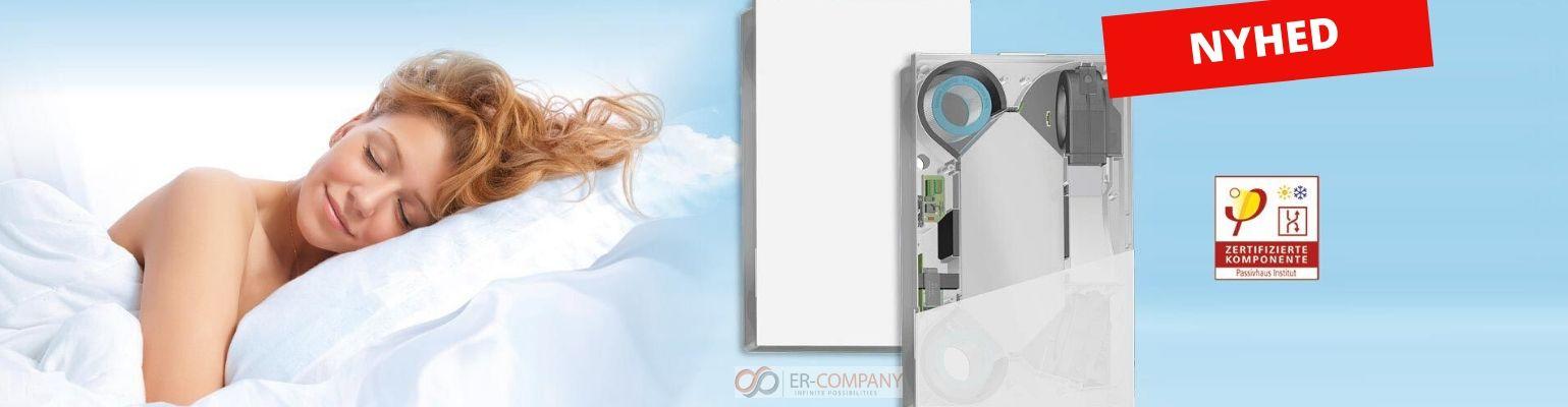 Ny ventilations-enhed, bedre varmegenvinding op til 94%